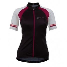 Women's Vela Race Jersey - cierno/červený